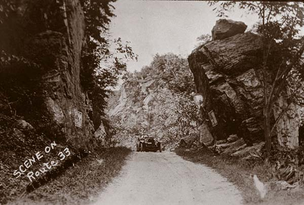 Early road conditions on Route 33, c.1920. Courtesy of Jim Draeger, personal collection