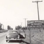 Advertising highway improvements in Dane County. Courtesy of Wisconsin Historical Society Archives (PH Series 2706)